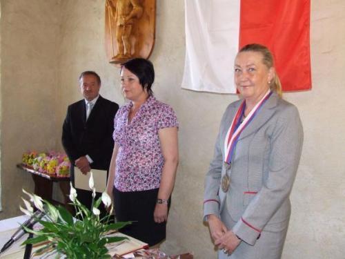 Starostka obce paní Helena Sosnová